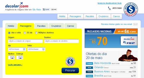 Decolar.com é Seguro é Confiável Comprar no Site  - Passagens Baratas Hoje c353aa3fcb11b